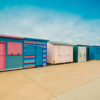 Colorful beach Huts , St Helens , Isle of Wight