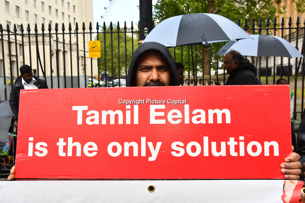 Tamils protestors on hunger strike of the Genocide in Sri Lanka, London, UK