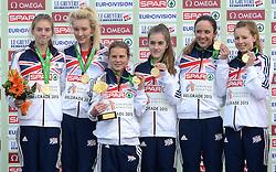 08-12-2013 ATHLETICS: SPAR EC CROSS COUNTRY: BELGRADE<br /> Junior women 4 km / Goud voor team Engeland<br /> ©2013-WWW.FOTOHOOGENDOORN.NL