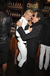 DIANA JENKINS and ROBERTO CAVALLI at a party to celebrate the launch of Cavalli Selection - the first ever wine from Casa Cavalli, held at 17 Berkeley Street, London W1 on 29th May 2008.<br /><br />NON EXCLUSIVE - WORLD RIGHTS