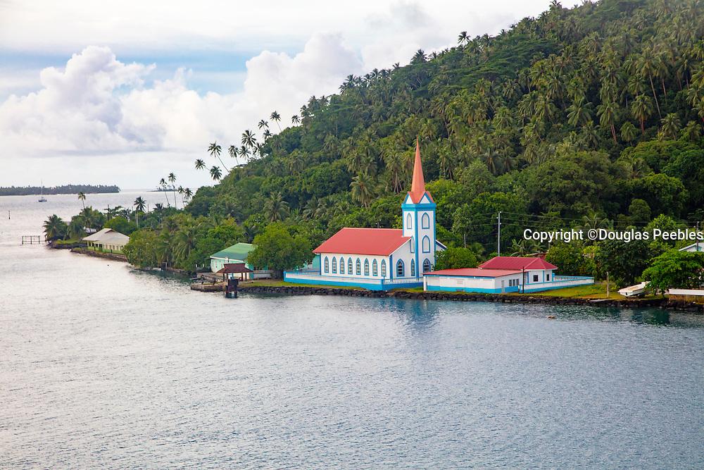 Church, Town of Tiva, Tahaa, French Polynesia