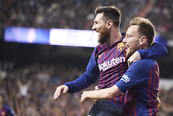 March 2, 2019 - Madrid, Madrid, Spain - Lionel Messi (forward; Barcelona), Ivan Rakitic (midfielder; Barcelona) in action during La Liga match between Real Madrid and FC Barcelona at Santiago Bernabeu Stadium on March 3, 2019 in Madrid, Spain (Credit Image: © Jack Abuin/ZUMA Wire)