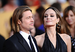 Angelina Jolie and Brad Pitt attending the 18th Annual Screen Actors Guild (SAG) Awards held at the Shrine Auditorium in Los Angeles, CA on January 29, 2012. Photo by Lionel Hahn/ABACAPRESS.COM