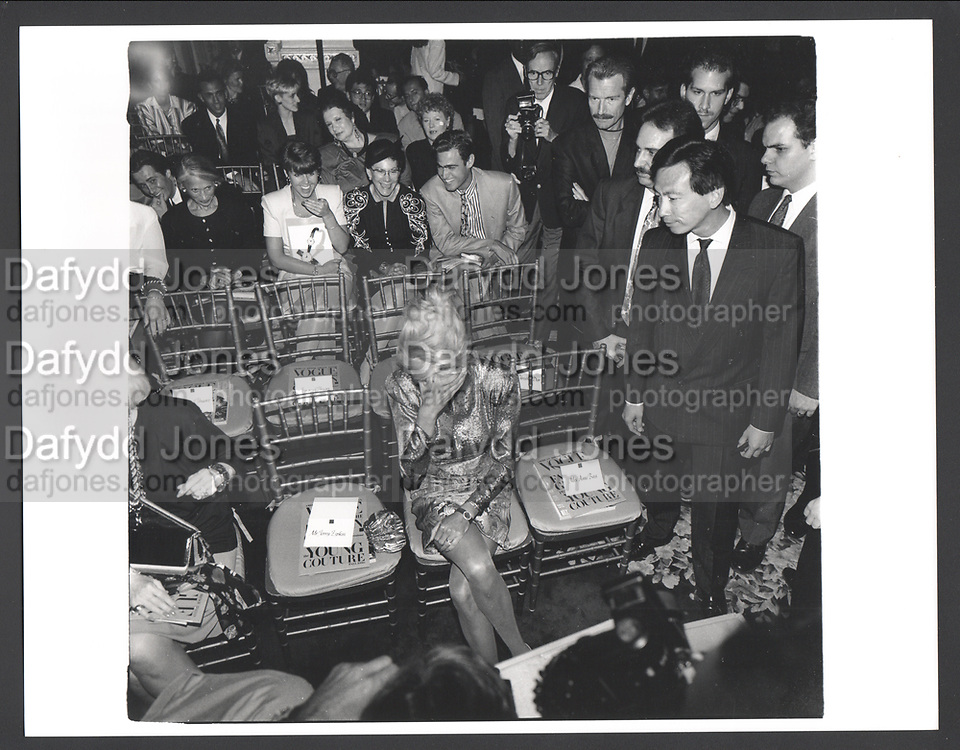 Ivana Trump photographed during the Fashion Group couture show. Plaza Hotel. New York. 5 September 1990. ( She was in the middle of her divorce from Donald Trump ).Exhibition in a Box