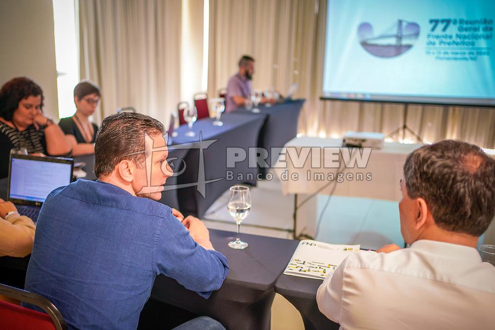 Florianópolis, SC - 13/03/2020: O prefeito Nelson Marchezan Júnior durante explanação na 77º Reunião Geral da Frente Nacional de Prefeitos. FOTO: Jefferson Bernardes/PMPA
