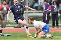 Try of Matteo Minozzi Italy<br /> Roma 17-03-2018, Stadio Olimpico<br /> Rugby 6 Nations Tournament <br /> Italia - Scozia / Italy - Scotland<br /> <br /> Foto Antonietta Baldassarre Insidefoto