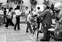 1979 Photographer, Jesse Pizante, at Grauman's Chinese Theater