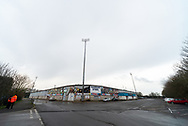 General view outside of The Sands Venue Stadium during the EFL Sky Bet League 2 match between Scunthorpe United and Grimsby Town FC at the Sands Venue Stadium, Scunthorpe, England on 23 January 2021.