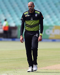 Basheer Walters of the Warriors during the T20 Challenge cricket match between the Lions and the Warriors at the Kingsmead stadium in Durban, KwaZulu Natal, South Africa on the 4th December 2016<br /> <br /> Photo by:   Steve Haag / Real Time Images