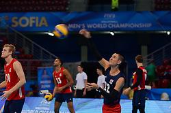 September 21, 2018 - Sofia, Bulgaria - Eric Shoji, USA during USA v Canada, pool G, during 2018 FIVB Volleyball Men's World Championship Italy-Bulgaria 2018, Sofia, Bulgaria on September 21, 2018  (Credit Image: © Hristo Rusev/NurPhoto/ZUMA Press)