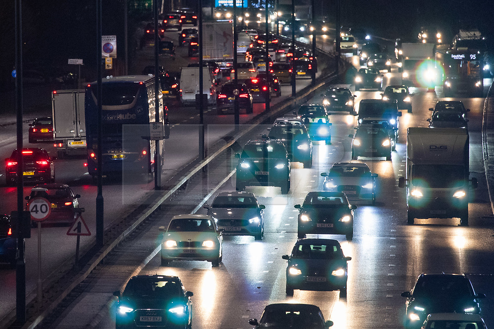 © Licensed to London News Pictures. 19/12/2020. London, UK. Traffic seen on London's A40 as new coronavirus 'Tier 4' restrictions to be introduced from 00:01 Sunday 20/12/2020. Photo credit: Peter Manning/LNP