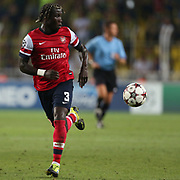 Arsenal's Sagna during the UEFA Champions League Play-Offs First leg soccer match Fenerbahce between Arsenal at Sukru Saracaoglu stadium in Istanbul Turkey on Wednesday 21 August 2013. Photo by Aykut AKICI/TURKPIX