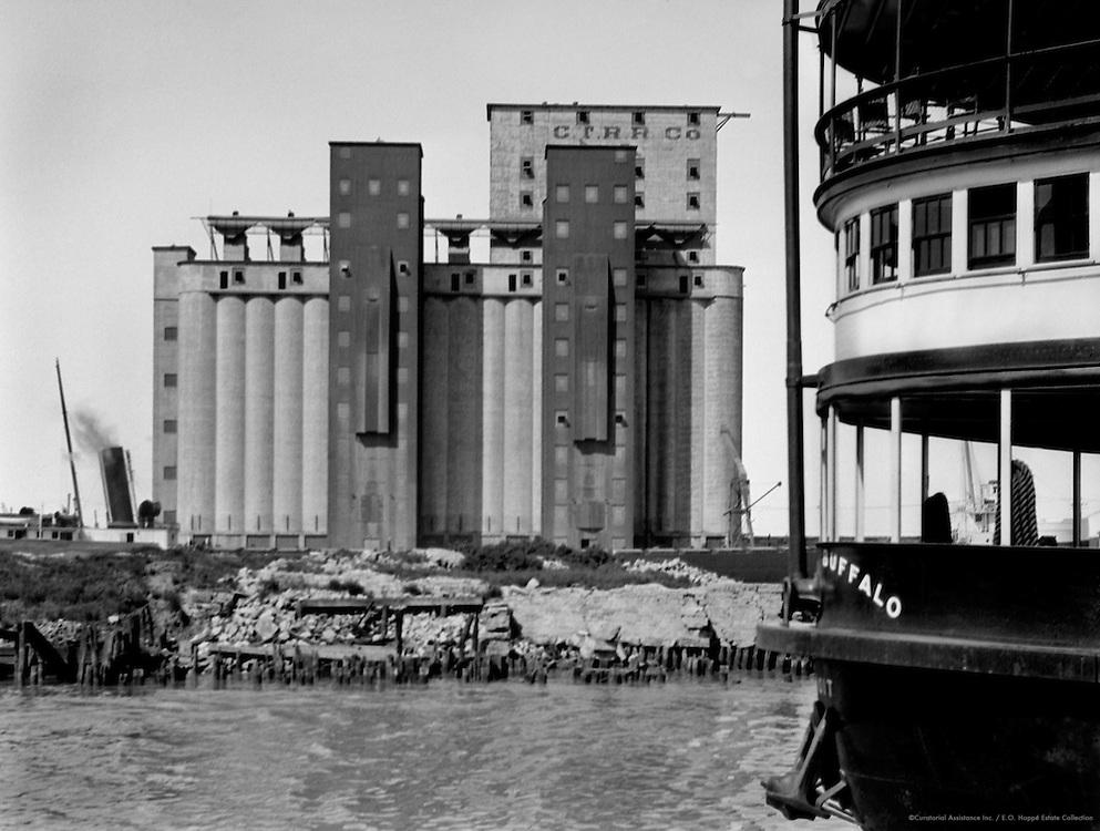 Grain Elevators and Ferry, Buffalo, New York, 1926