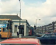 Old amateur photos of Dublin streets churches, cars, lanes, roads, shops schools, hospitals January 1992 Allied Irish Bank Poplar Rd