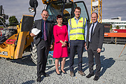 NO FEE PICTURES<br />13/7/18 Irish Life has formally broken ground on its new Customer Centre in Dundalk, Co Louth. The building has been designed by leading Dublin based architects, wejchert Architects and is being delivered by main contractor Stewart Construction. The new site area is 1.6 hectares with an office size of 45,000 sq ft. It is expected that over 200 construction workers will be on site during the construction phase of the project, which will be a significant boost to local employment in the Dundalk Area. Pictured are : Se Weston, Excutive Manager, Paul Stewart, MD Stewart Construction, Aine Cassidy, Excutive Manager, Dundalk Office, David Harney, CEO Irish Life,  Picture :Arthur Carron