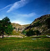 Gordale Scar gorge, limestone scenery, Yorkshire Dales national park, England