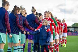 Bristol City Women captain Loren Dykes with her mascot - Mandatory by-line: Paul Knight/JMP - 28/10/2018 - FOOTBALL - Stoke Gifford Stadium - Bristol, England - Bristol City Women v Arsenal Women - FA Women's Super League