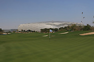 Education City Stadium behind the 18th green during the Preview of the Commercial Bank Qatar Masters 2020 at the Education City Golf Club, Doha, Qatar . 03/03/2020<br /> Picture: Golffile | Thos Caffrey<br /> <br /> <br /> All photo usage must carry mandatory copyright credit (© Golffile | Thos Caffrey)