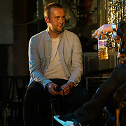 London, UK, 8th August 2017. Matt Stocks discusses Black Grape's new album, Pop Voodoo, with Shaun Ryder ,Kermit Leveridge.