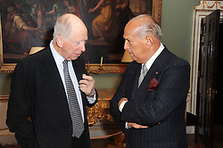 A party to promote the exclusive Puntacana Resort & Club - the Caribbean's Premier Golf & Beach Resort Destination, was held at Spencer House, London on 13th May 2010.<br /> <br /> Picture shows:- Left to right, LORD ROTHSCHILD and OSCAR DE LA RENTA.