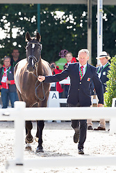Hans Staub, (SUI), Warbeau - Horse Inspection Dressage - Alltech FEI World Equestrian Games™ 2014 - Normandy, France.<br /> © Hippo Foto Team - Leanjo de Koster<br /> 25/06/14