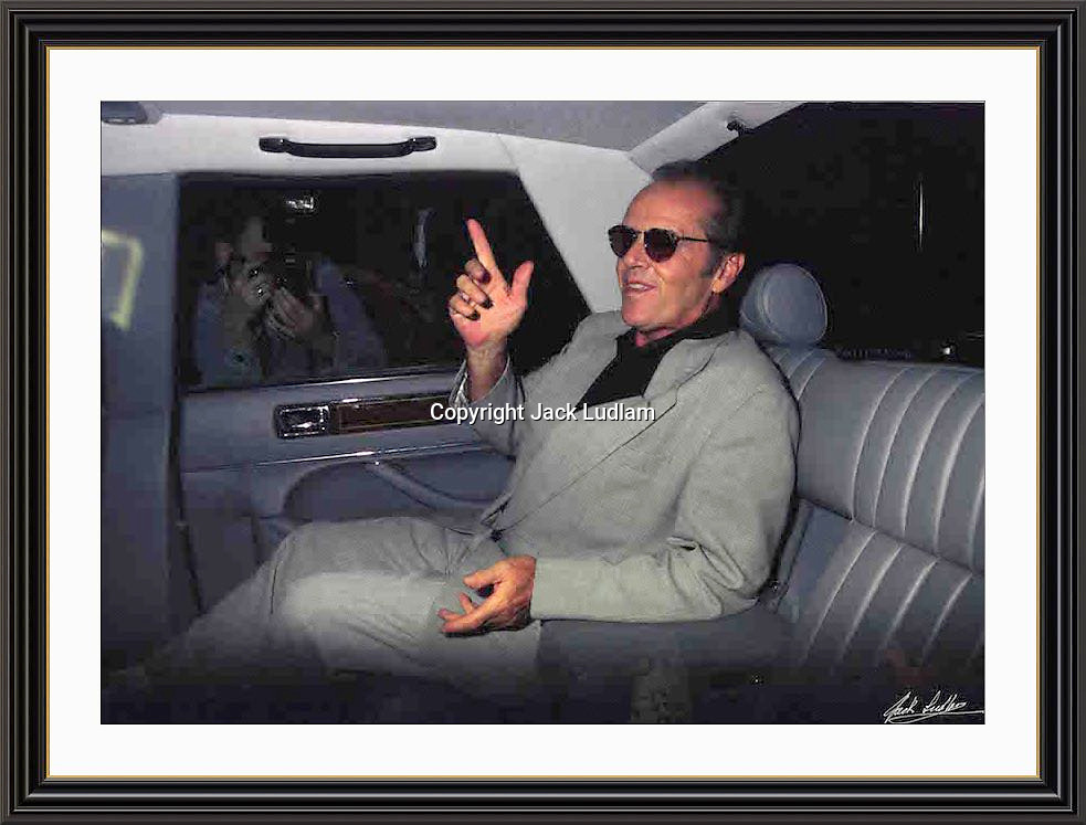 Jack Nicholson London 1996 jermyn st A2 Museum-quality Archival signed Framed Print