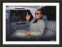 Jack Nicholson London 1996 jermyn st A2 Museum-quality Archival signed Framed Print £950