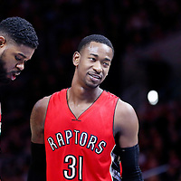 27 December 2014: Toronto Raptors forward Terrence Ross (31) is seen next to Toronto Raptors forward Amir Johnson (15) during the Toronto Raptors 110-98 victory over the Los Angeles Clippers, at the Staples Center, Los Angeles, California, USA.