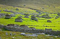 Pueblo de St. Kilda. Village Bay. Isla St. Kilda. Outer Hebrides. Scotland, UK