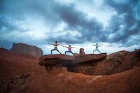 Heeki Park, Abby Chan & Devi at Monument Valley