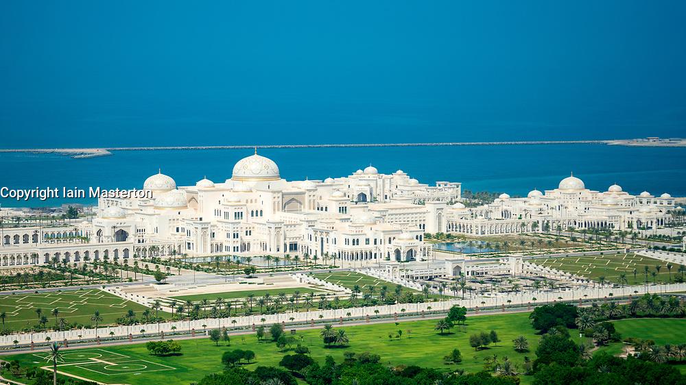 View of new Presidential Palace in Abu Dhabi, UAE, United Arab Emirates