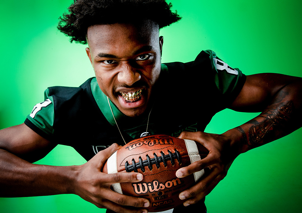 Connally football's Jahdae Barron poses for a portrait Dec. 18, in Austin. Barron is part of the Statesman's All-Centex program honoring outstanding achievements by high school athletes.  NICK WAGNER / AMERICAN-STATESMAN