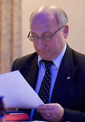 Bogdan Gabrovec at Meeting of OKS in Grand hotel Union, on March 23, 2009, Ljubljana, Slovenia. (Photo by Vid Ponikvar / Sportida)