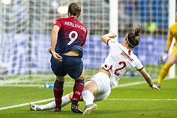 June 27, 2019 - Le Havre, França - LE HAVRE, SM - 27.06.2019: NORWAY VS ENGLAND - Lucy Bronze of England and Isabell Herlovsen of Norway during a match between England and Norway. World Cup Qualification Football. FIFA. Held at the Oceane Stadium in Le Havre, France  (Credit Image: © Richard Callis/Fotoarena via ZUMA Press)