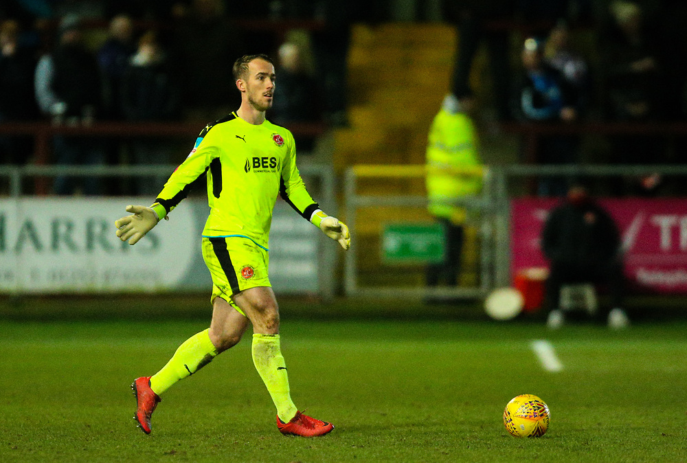 Fleetwood Town's Alex Cairns<br /> <br /> Photographer Alex Dodd/CameraSport<br /> <br /> The EFL Sky Bet League One - Fleetwood Town v Portsmouth - Tuesday 20th February 2018 - Highbury Stadium - Fleetwood<br /> <br /> World Copyright © 2018 CameraSport. All rights reserved. 43 Linden Ave. Countesthorpe. Leicester. England. LE8 5PG - Tel: +44 (0) 116 277 4147 - admin@camerasport.com - www.camerasport.com