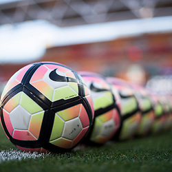 BRISBANE, AUSTRALIA - NOVEMBER 19: View of the warm up balls before the round 7 Hyundai A-League match between the Brisbane Roar and Sydney FC at Suncorp Stadium on November 19, 2016 in Brisbane, Australia. (Photo by Patrick Kearney/Brisbane Roar)