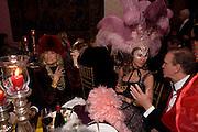 MARTA MARZOTTO; Francesca Bortolotto Possati. Francesca Bortolotto Possati, Alessandro and Olimpia host Carnevale 2009. Venetian Red Passion. Palazzo Mocenigo. Venice. February 14 2009.