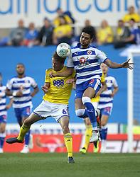 Reading's Tiago Ilori (right) and Birmingham City's Maikel Kieftenbeld battle for the ball