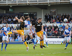 Bristol Rovers' John-Joe OToole goes close with a header - Photo mandatory by-line: Joe Meredith/JMP - Mobile: 07966 386802 03/05/2014 - SPORT - FOOTBALL - Bristol - Memorial Stadium - Bristol Rovers v Mansfield - Sky Bet League Two