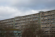 The Aylesbury Estate on 11th January 2017 in South London, United Kingdom. The high density estate, in the London Borough of Southwark, is currently undergoing a long-term regeneration program.