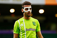 Norwich City defender Ivo Pinto (2) warming up ahead of  the EFL Sky Bet Championship match between Norwich City and Barnsley at Carrow Road, Norwich, England on 18 November 2017. Photo by Phil Chaplin.