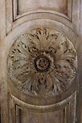 Carved Stone in Decorative Leaf Design 2013. Underside of Bridge.