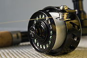 Close up of Van Staal machined spinning reel roller.