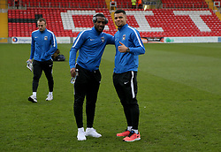 Coventry City's players take to the pitch ahead of the Lincoln match