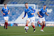 Tom Naylor of Portsmouth in action during the EFL Sky Bet League 1 match between Portsmouth and Hull City at Fratton Park, Portsmouth, England on 23 January 2021.