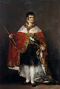 Fernando VII (1784-1833) King of Spain 1808 and 1813-1833.  Portrait by Francisco Goya, Spainish painter and printmaker  Oil on canvas, 1814.