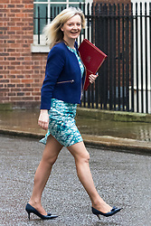 Downing Street, London, May 10th 2016. Environment Food and Rural Affairs Secretary Elizabeth Truss arrives at the weekly cabinet meeting in Downing Street.