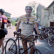 Some of the biclyes are from the 20's. On May 27, 2018 the second edition od the Eroica went of, the Eroica is a bicycle race where only bikes berore 1985 can partecipate. Cyclists must wear vintage cloths and the road are often on gravel. It's a non competitive race, but fatigue and sweat are real. Federico Scoppa
