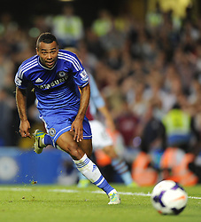 "Chelsea's Ashley Cole  - Photo mandatory by-line: Joe Meredith/JMP - Tel: Mobile: 07966 386802 21/08/2013 - SPORT - FOOTBALL - Stamford Bridge - London - Chelsea V Aston Villa - Barclays Premier League - EDITORIAL USE ONLY. No use with unauthorised audio, video, data, fixture lists, club/league logos or ""live"" services. Online in-match use limited to 45 images, no video emulation. No use in betting, games or single club/league/player publications"