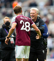 Football - 2021 / 2022 Premier League - Newcastle United vs West Ham United - St James Park - Sunday 15th August 2021<br /> <br /> West Ham manager David Moyes and Tomas Soucek of West Ham at full time<br /> <br /> Credit: COLORSPORT/Bruce White